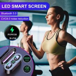 WS F9 touch earplugs 5.0 stereo in-ear headphones med power display fra Shopp